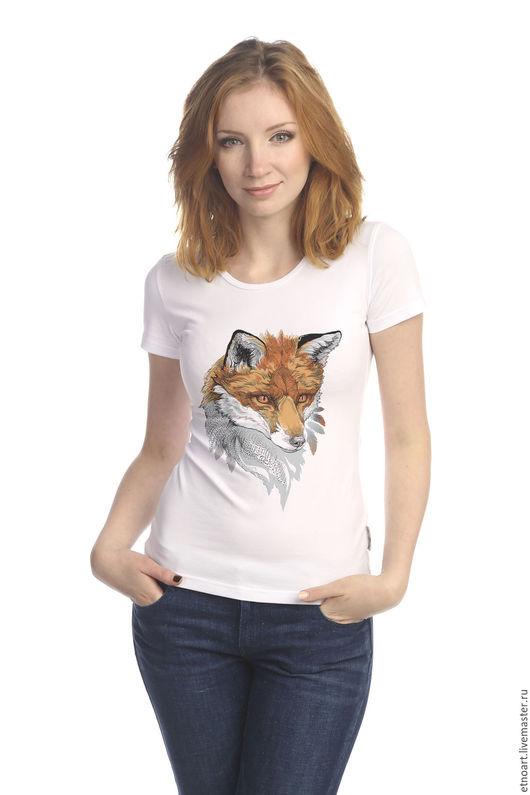 Принт `Рыжая лисица`