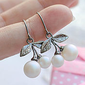 Украшения handmade. Livemaster - original item Earrings White berry. Handmade.