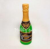 Материалы для творчества handmade. Livemaster - original item Silicone molds for soap Bottle of champagne large. Handmade.
