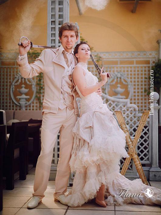 `Не по правилам`, Свадебный костюм (мужской), индивидуальный пошив. Флана
