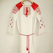 Русский стиль handmade. Livemaster - original item slavic dress with oberezhnye embroidery. Handmade.