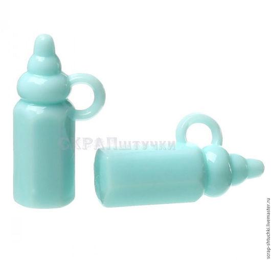Куклы и игрушки ручной работы. Ярмарка Мастеров - ручная работа. Купить Подвеска бутылочка розовая голубая пастель. Handmade.