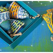Подарки к праздникам ручной работы. Ярмарка Мастеров - ручная работа Набор Елочек-подвесок. Handmade.