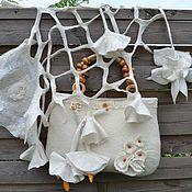 Свадебный салон handmade. Livemaster - original item kit: Felted bag and scarf