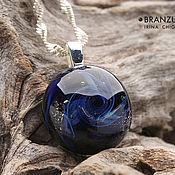 Украшения handmade. Livemaster - original item Galaxy mini - lens pendant - space stars galaxy. Handmade.