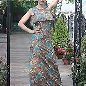 Одежда ручной работы. Ярмарка Мастеров - ручная работа Трикотажное стильное длинное платье. Handmade.