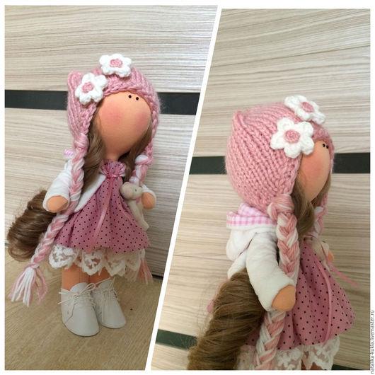 Коллекционные куклы ручной работы. Ярмарка Мастеров - ручная работа. Купить Кукла текстильная. Handmade. Коралловый, кукла, кукла интерьерная