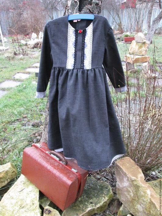 """Одежда для девочек, ручной работы. Ярмарка Мастеров - ручная работа. Купить Платье """" Ветер перемен."""". Handmade. Серый"""