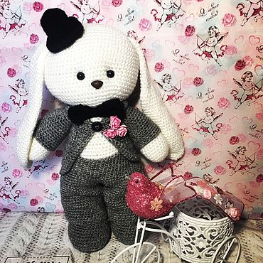 Куклы и игрушки ручной работы. Ярмарка Мастеров - ручная работа Зайка жених. Handmade.