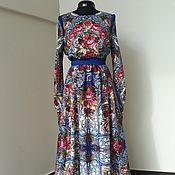 Русский стиль ручной работы. Ярмарка Мастеров - ручная работа Платье из платков в русском стиле. Handmade.