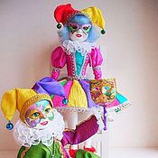 Куклы и игрушки handmade. Livemaster - original item Dolls harlequin and Columbine. Handmade.