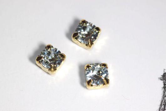 Кристаллы № 361 LT. AZORE.  Ювелирные касты под золото