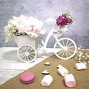 Кашпо ручной работы. Ярмарка Мастеров - ручная работа Велосипед-цветочница. Handmade.