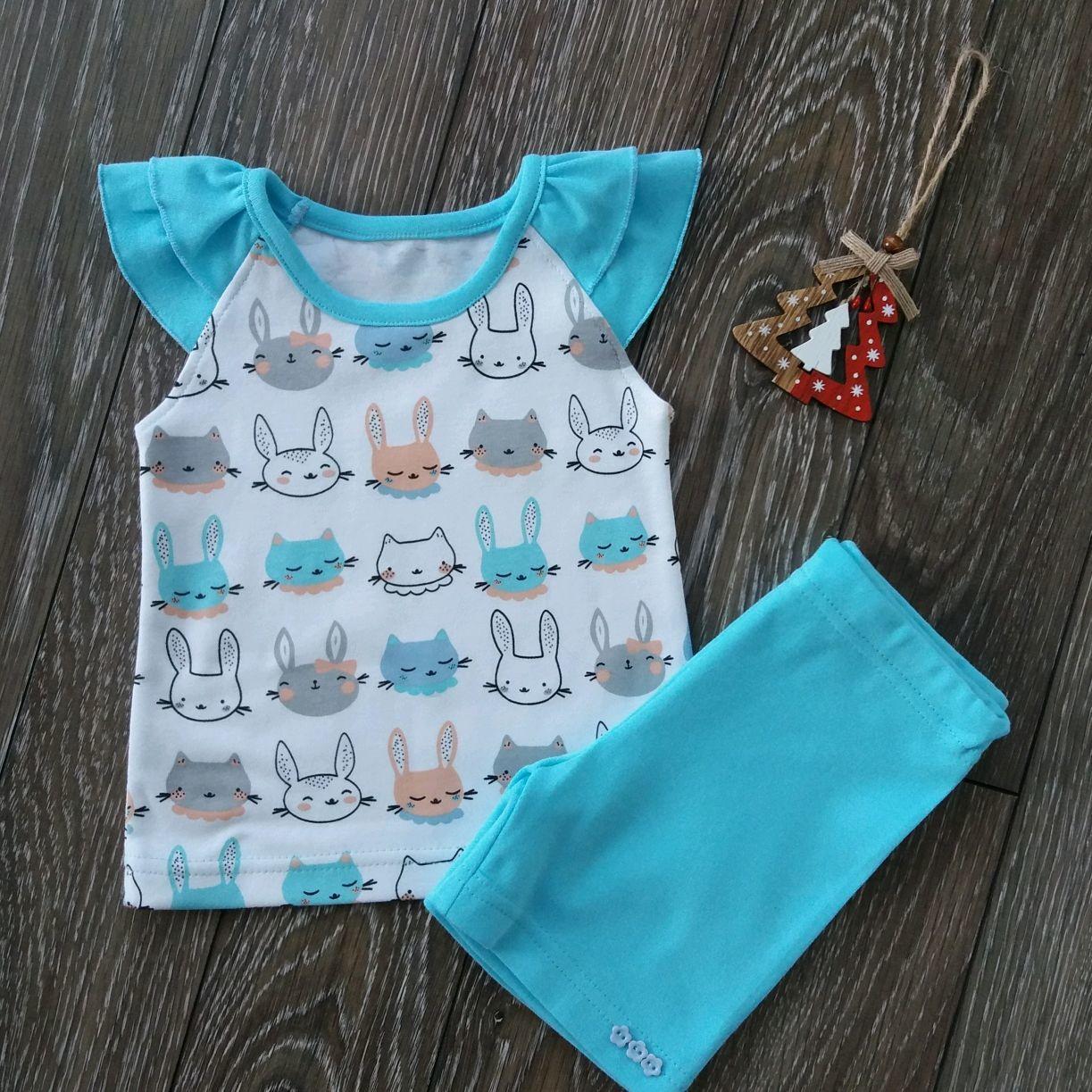 Комплект из туники и шорт для девочки