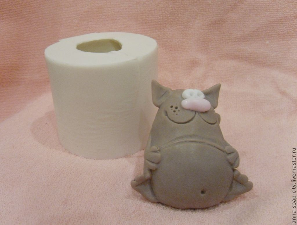 Silicone mold for soap and candles ' Fat cat', Makeup tools, Arkhangelsk,  Фото №1