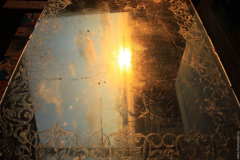 Large ornamental Venetian mirror, handmade Peter, Mirror, St. Petersburg,  Фото №1