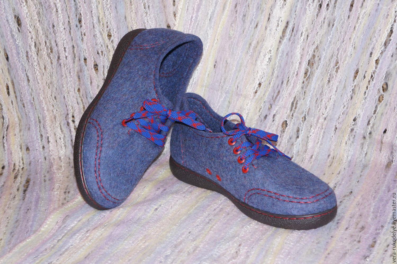Валяные туфли ручной работы