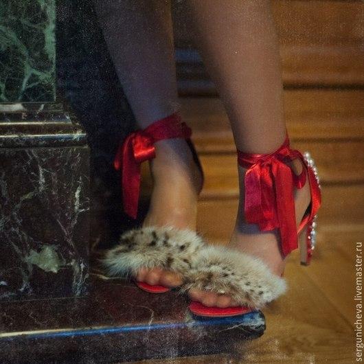 """Обувь ручной работы. Ярмарка Мастеров - ручная работа. Купить Туфли""""Укрощение строптивой"""". Handmade. Ярко-красный, для вечеринки, нарядная обувь"""