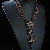 Украшения handmade. Livemaster - original item Rainbow necklace with red labradorite. Handmade.