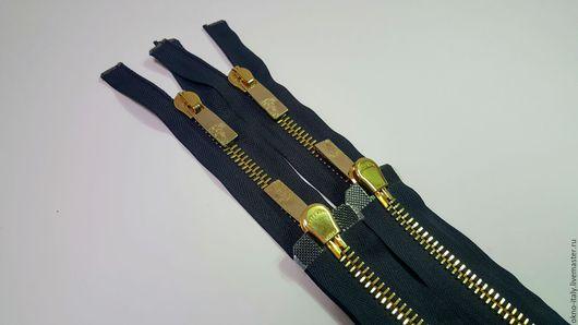 Шитье ручной работы. Ярмарка Мастеров - ручная работа. Купить Молнии «Versace»  85 см 2 замка. Handmade. Черный