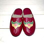 Шлёпки ручной работы. Ярмарка Мастеров - ручная работа Тапочки кожаные. Handmade.
