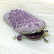 Сумки и аксессуары handmade. Livemaster - original item cases: Glasses case Elegance beaded with clasp. Handmade.