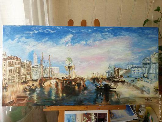 Пейзаж ручной работы. Ярмарка Мастеров - ручная работа. Купить Grand Canal, Venice, реплика. Handmade. Разноцветный, пейзаж, продаётся