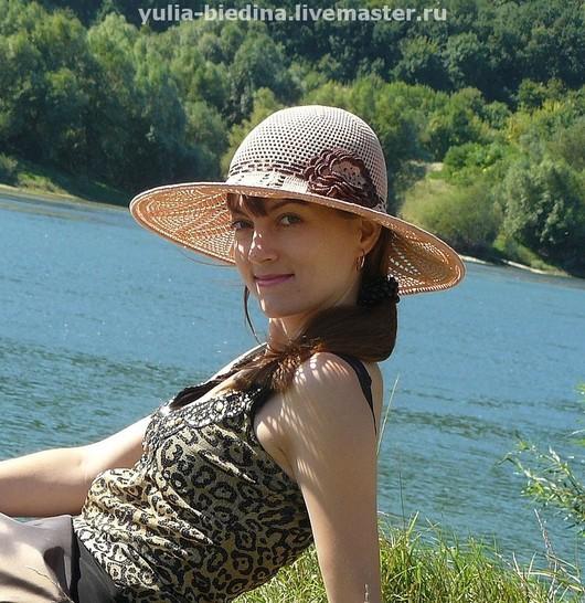 """Шляпы ручной работы. Ярмарка Мастеров - ручная работа. Купить Шляпа """"Тропики"""". Handmade. Аксессуары, модное лето, ажурная шляпка"""