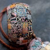 Украшения ручной работы. Ярмарка Мастеров - ручная работа браслет из полимерной глины теплый этно 2. Handmade.