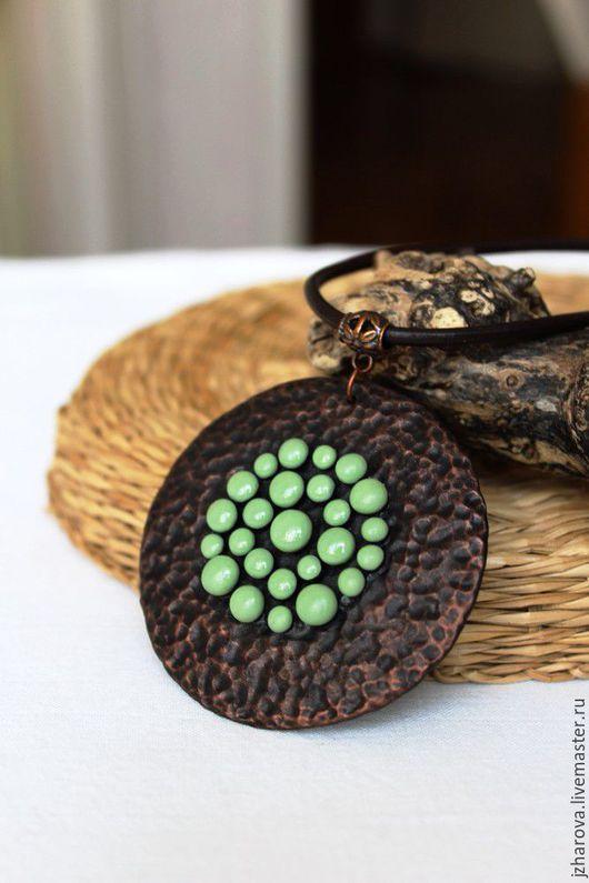 Кулоны, подвески ручной работы. Ярмарка Мастеров - ручная работа. Купить Кулон из полимерной глины Найроби. Handmade.