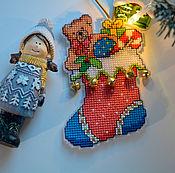 Сувениры и подарки handmade. Livemaster - original item Christmas toy Boot. Handmade.