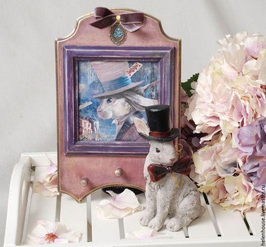 Винтажные куклы и игрушки. Ярмарка Мастеров - ручная работа. Купить Фигурка  кролика. Handmade. Белый кролик, алиса
