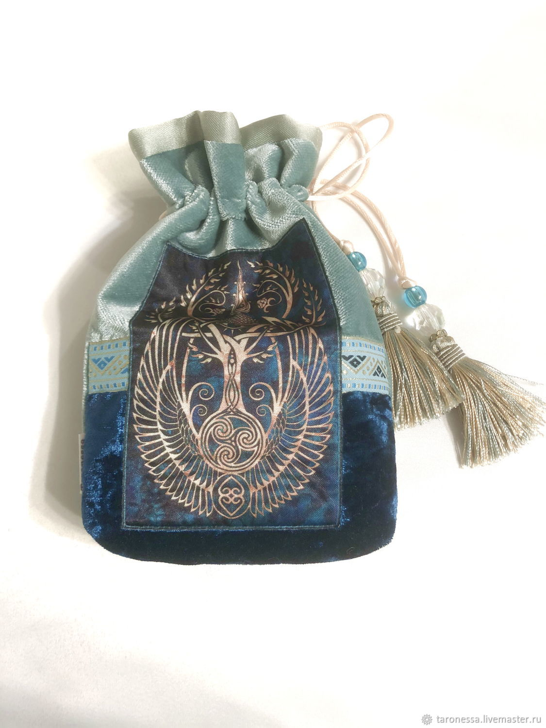 Pouch for Tarot cards, oracles, runes or crystals, Baggie, Noginsk,  Фото №1