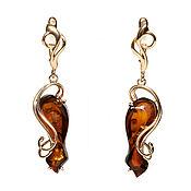 Украшения handmade. Livemaster - original item Amber earrings