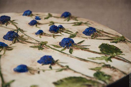 Картины цветов ручной работы. Ярмарка Мастеров - ручная работа. Купить Синие пуговки.. Handmade. Синий, авторская ручная работа