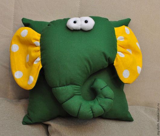 Текстиль, ковры ручной работы. Ярмарка Мастеров - ручная работа. Купить Подушка слон.. Handmade. Зеленый, подушка, подушка-игрушка