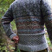 Одежда ручной работы. Ярмарка Мастеров - ручная работа Зима близко. Мужской свитер серый.. Handmade.