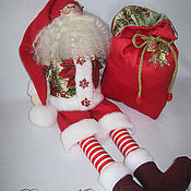 Куклы и игрушки handmade. Livemaster - original item Interior Textile Doll.The Magic Of Santa .A gift for the New Year. Handmade.