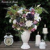 Композиции ручной работы. Ярмарка Мастеров - ручная работа Композиции: Цветочная композиция в вазе Виолетта. Handmade.