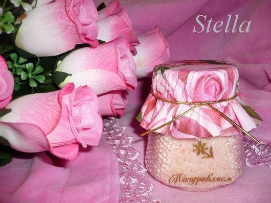 """Скраб ручной работы. Ярмарка Мастеров - ручная работа. Купить """"LUXURY ROSES""""- скраб для тела.. Handmade. Бледно-розовый, розовый"""
