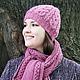 Комплект шапка шарф, комплект шапка и шарф, шапка шарф, шапка и шарф, шапки шарфы, комплект шапка, комплект шарф, комплект шапка варежки, коралловый, малиновый, дерево, ствол