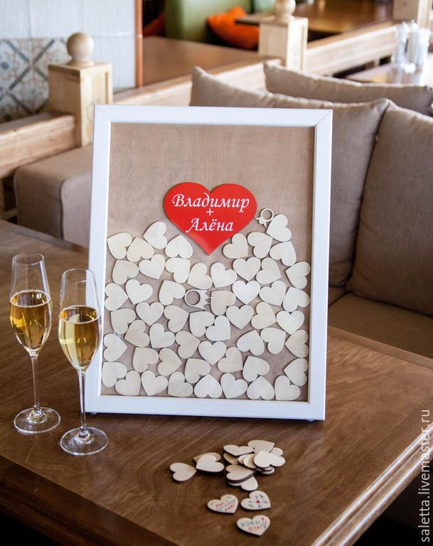 Рамка с сердечками пожеланий на свадьбу