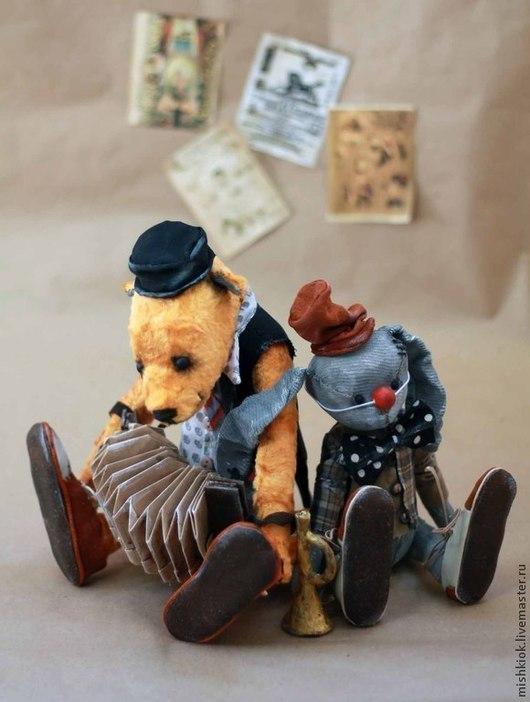 Мишки Тедди ручной работы. Ярмарка Мастеров - ручная работа. Купить Мишка Тедди Клоуны. Handmade. Мишка, артисты цирка