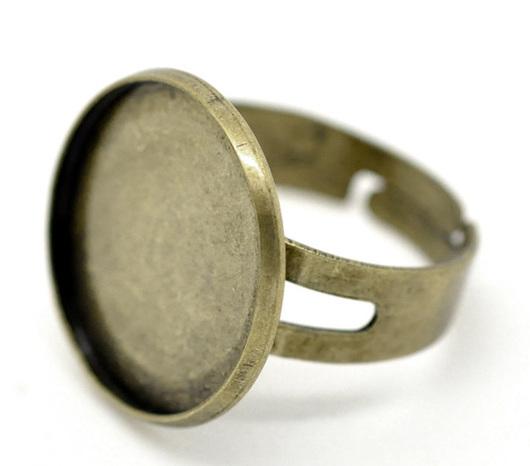 Для украшений ручной работы. Ярмарка Мастеров - ручная работа. Купить Основа для кольца регулируемая 1. Handmade. фурнитура для бижутерии