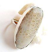 Кольца ручной работы. Ярмарка Мастеров - ручная работа Серебряное кольцо Коралл. Handmade.