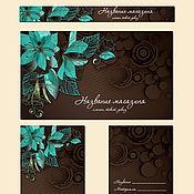 """Дизайн и реклама ручной работы. Ярмарка Мастеров - ручная работа комплект """"Бирюза и шоколад"""".. Handmade."""