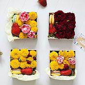 """Цветы и флористика ручной работы. Ярмарка Мастеров - ручная работа Цветочная коробочка """"Малютка весна"""". Handmade."""