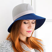 Аксессуары handmade. Livemaster - original item Two tone hat with drooping Tulip fields. Handmade.