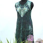 Одежда ручной работы. Ярмарка Мастеров - ручная работа Валяное платье Цвет жизни.. Handmade.