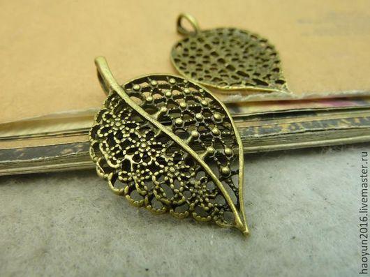 Для украшений ручной работы. Ярмарка Мастеров - ручная работа. Купить 5 шт металлические подвески бронзовую Дерево листьев C4635. Handmade.
